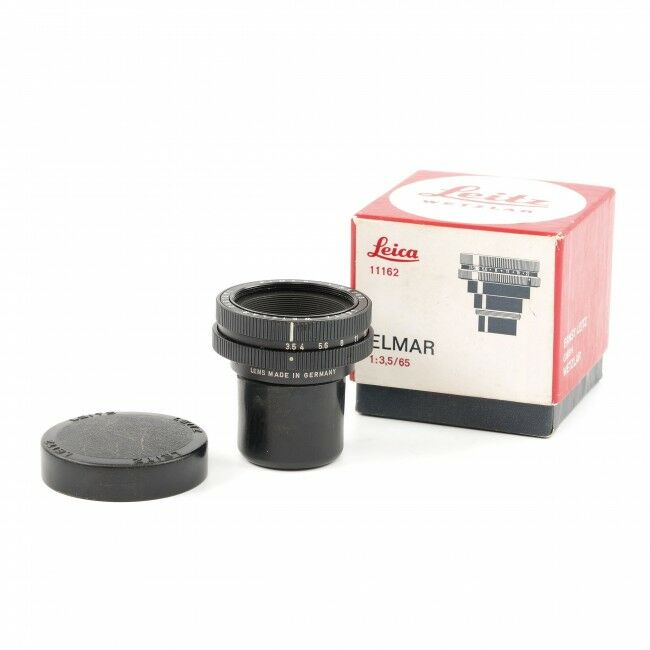 Leica 65mm f3.5 Elmar Black + Box