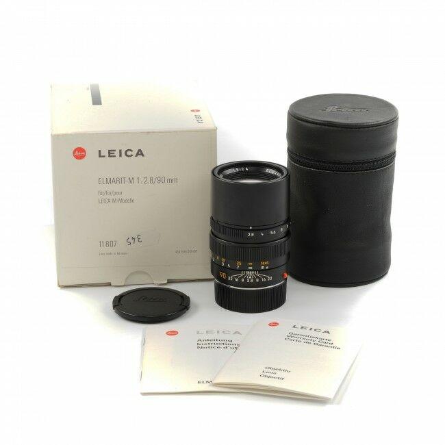 Leica 90mm f2.8 Elmarit-M Black + Box