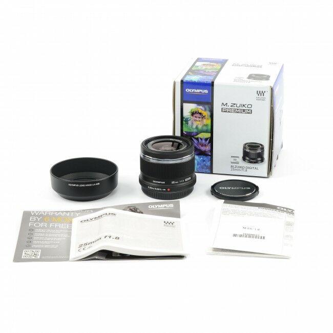 Olympus M. Zuiko Digital 25mm f1.8 MSC Lens Black + Box